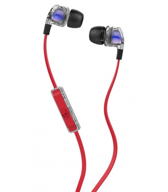 Skullcandy Smokin Bud 2 Spaced Out/Clear/Black In-ear Headphones with In-line Mic (S2PGGY-391)