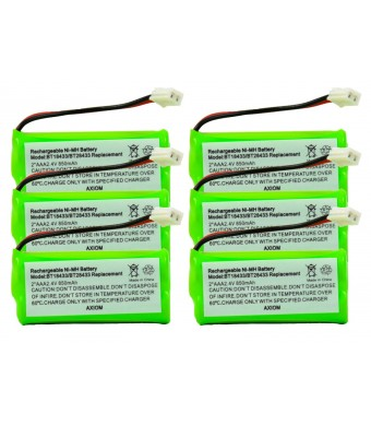 Axiom 6-Pack Rechargeable Battery For EMPCPH515D / ERP295GRN / SJB2121 / SM15320M / TEL0032 / TELVT6031 / UL133 / TEL10213 / 25255RE7