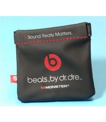 netjnp In-Ear Beats Earphone Black Carrying Pouch for Dr.Dre, iBeats, Tour, Heart Beats by Lady Gaga, Did