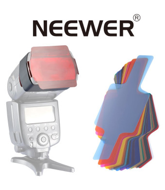 Neewer Photographic 20-piece Set Speedlite Flash Color Gels Universal Lighting Cinegel Filter Kit,