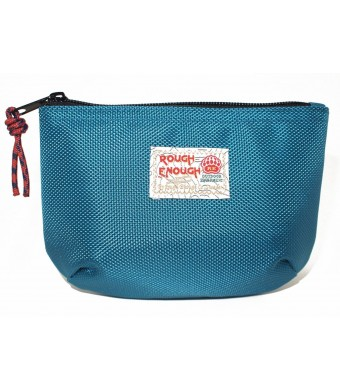 Rough Enough Classic Funny Small Pouch for Macbook, Macbook Air Adaptor, Cables, Small Stuffs, Computer Accessories, Vintage, Funny , Fun and Basic. (Blue)