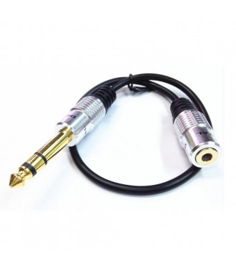 VIMVIP 6.35mm Male Plug to 3.5mm Female Socket Headphone Extension Cable