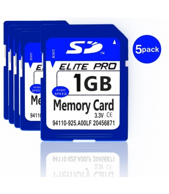 Estone 5pcs x1GB Security Digital SD Card ,High Speed ,Compatible with cameras ,camcorders , computers ,car readers and other SD compatible devices