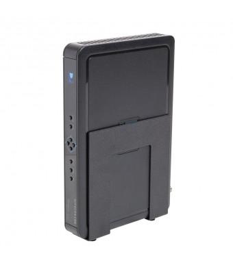 HIDEit Mounts HIDEit Uni-S (Black) Adjustable Small Device Wall Mount, Cable Box, Digital Media Player