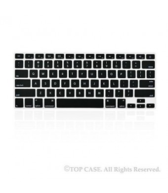 "TOP CASE TopCase BLACK Silicone Keyboard Cover Skin for Macbook 13"" Unibody / Macbook Pro 13"" 15"" 17"" w"