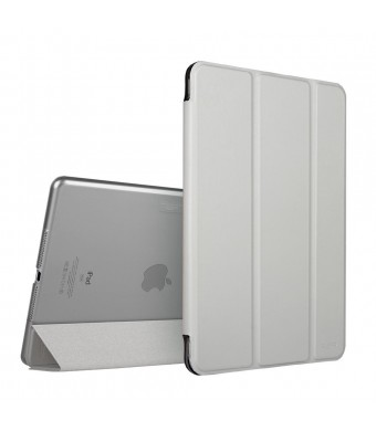 iPad Air 2 Case,ESR Yippee Color Series Smart Cover+Transparent Back Cover [Ultra Slim] [Light Weight] [Scratch-Resistant Lining] [Perfect Fit] [Auto Wake Up/Sleep Function] for[2014 Release] iPad Air 2 Cover (Silver Grey)