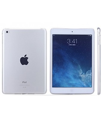 GeBox Ultra-Thin Colorful TPU Gel Rubber Soft Skin Case Cover for Apple iPad Air 2/iPad 6 (Clear)