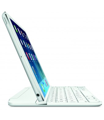Logitech 920-006260 Ultrathin Magnetic Clip-On Keyboard Cover for iPad Mini and Mini with Retina Display - Silver