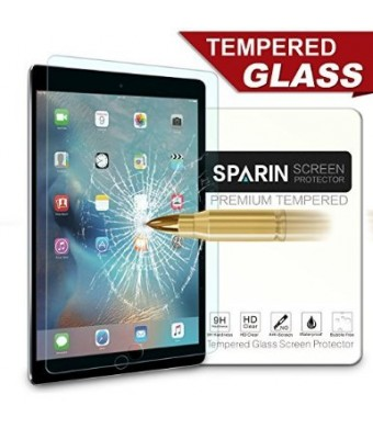 """SPARIN iPad Pro 12.9 Screen Protector, [Multi-Touch Compatible] [.3mm / 2.5D Round Edge] [Tempered Glass] [Bubble-Free] Screen Film for new Apple iPad Pro 12.9"""""""
