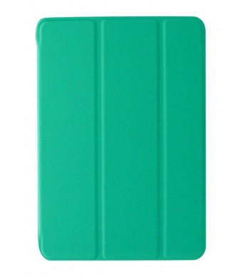 KHOMO iPad Mini / Mini Retina / Mini 3 Case (Released 2014) - DUAL Dark Green Super Slim Twill Texture Cover with Rubberized back and Smart Feature (Built-in magnet for sleep / wake feature) For Apple iPad Mini Tablet ...