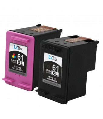 LxTek Remanufactured Ink Cartridge Replacement For HP 61XL HP 61 XL(1 Black | 1 Tri-Color) CH563WN CH564WN High Yield