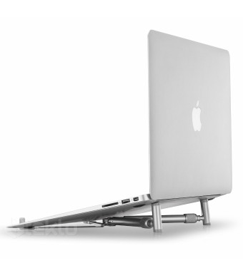 "Steklo - X-Stand for MacBook and PC Laptop, Aluminium Adjustable/Portable, Cooling Universal Stand for size 12""-17"" Screen"