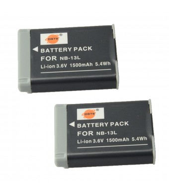 DSTE 2x NB-13L Replacement Li-ion Battery for Canon PowerShot G7X Digital Camera as NB13L