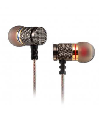 KZ ED Special Edition Classics Gold Plated Housing Extra Bass HD HiFi Headphones with Microphone