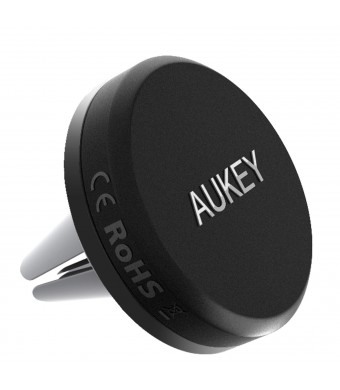 AUKEY Car Mount Air Vent Magnetic Cell Phone Holder for iPhone 7, 6S, Plus, Samsung and Other Android, Windows Smartphones