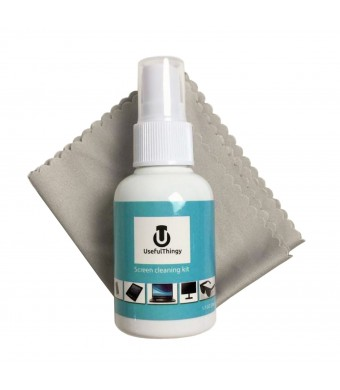 UsefulThingy Screen Cleaner Kit - Best For Laptop, Eyeglass, TV, Smartphone, iPad, Kindle, Touch Screens - 1 Cl