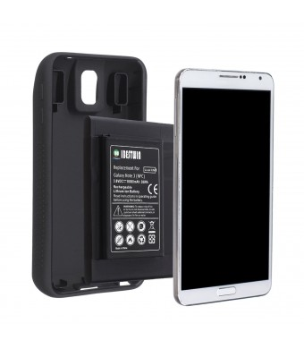 IBESTWIN Samsung Galaxy Note 3 10000mAh Extended Battery with NFC + Full Edge Protective TPU Case Cover