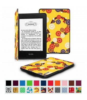 Fintie Case for Kindle Paperwhite, [Blade Series] Premium Protective Leather Cover Auto Wake/Sleep for All-New Amazon Kindle Paperwhite (Fits All 2012 2013 2014 and 2015 Versions), Mesmerizing Floral