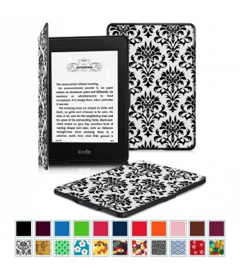 Fintie SmartShell Case for Kindle Paperwhite - The Thinnest and Lightest Leather Cover With Auto Sleep/Wake for All-New Amazon Kindle Paperwhite (Fits All 2012 2013 2015 and 2016 Versions), Versailles