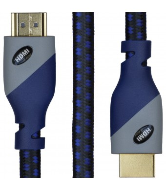 SecurOMax HDMI 2.0 Cable 6ft - (4K) Ready - Braided Cord - 28AWG High Speed 18Gbps - Gold Plated Connector T