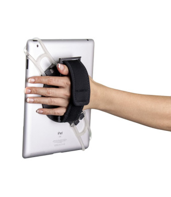 Aleratec 2-in-1 Universal Desktop Stand and Hand Strap Holder for iPad/Android Tablets up to 10.1