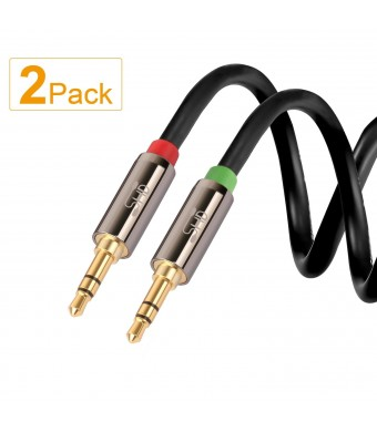 Super High-Definition Super HD 3.5mm Aux Stereo Audio Cable Tangle-Free Slim Cable Male Type Compatible for Car,Stereo A