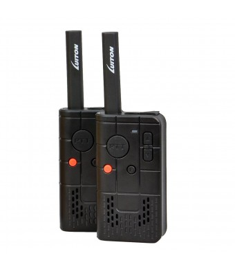 LUITON PKT-03 Pocket FRS GMRS Two-Way Radios with Rechargable Lithium Battery UHF Outdoor Portable Walkie Talkie (Black)(Pair)