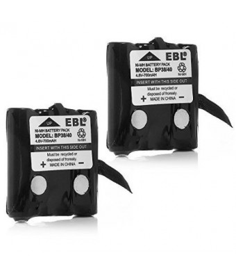 EBL Two-Way Radio Batteries Replacement Battery for Uniden BP-38 BP-39 BT-1013 BT-537 BP-40 FRS-008 (2 Pack)