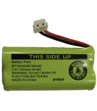 JustGreatDealz Battery BT184342 / BT284342 for ATandT Vtech GE RCA and Clarity Phones 2.4V 550mAh Ni-MH