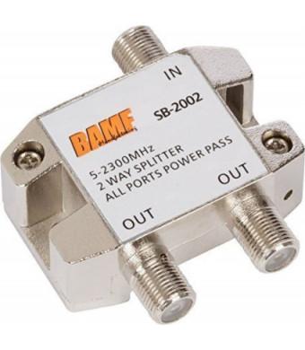 BAMF Manufacturing BAMF 2-Way Coax Cable Splitter Bi-Directional MoCA 5-2300MHz