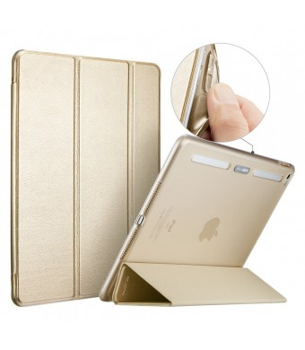 ESR Corner/Bumper Protection Smart Cover Case with Soft TPU Bumper and Auto Wake/Sleep Function for iPad Air 2/iPad 6, Champagne Gold