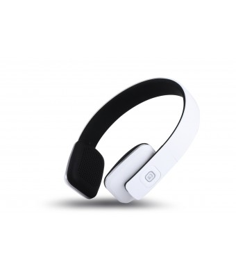 MARSEE Bluetooth 4.1 High Fidelity Wireless Over-Ear Headphones for Smart Phones and Tablets - White