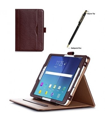 ProCase Samsung Galaxy Tab S2 8.0 Case - Leather Stand Folio Case Cover for 2015 Galaxy Tab S2 Tablet (8.0 inch, SM-T710 T715 T713) -Brown