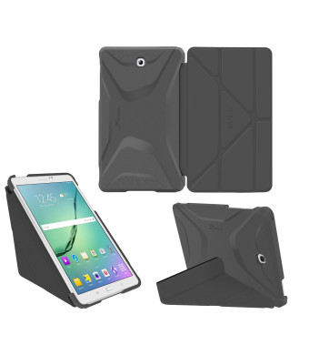 Galaxy Tab S2 9.7 Case, Samsung Galaxy Tab S2 9.7 case, rooCASE Origami Slim Shell Lightweight Tablet Stand Folio Smart Cover SM-T810 SM-T815, Gray