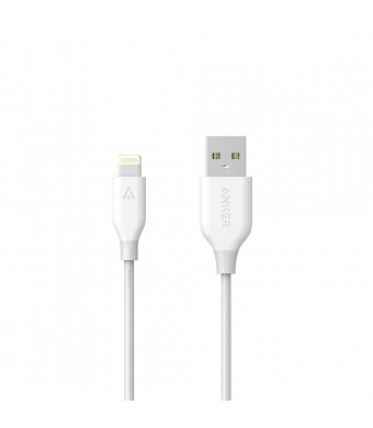 Anker PowerLine 1ft Apple MFi Certified Short Lightning to USB Cable Sturdy Charging Cord for iPhone 5/5s/5c 6/6s Plus/7, iPad mini/Air/Pro iPod touch