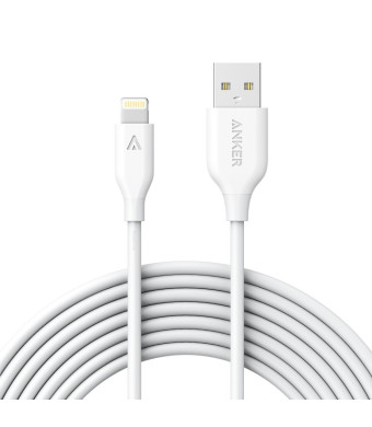 Anker PowerLine Lightning (10ft) Apple MFi Certified Lightning Cable / Charger Cord, for iPhone 7/6s/6s Plus/6/6 Plus/5s/5, iPad mini/4/3/2, iPad Pro Air 2