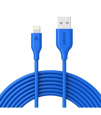 Anker PowerLine Lightning (10ft) Apple MFi Certified Lightning Cable / Charger Cord, for iPhone 7/7 Plus 6s/6s Plus/6/6 Plus/5s/5, iPad mini/4/3/2, iPad Pro Air 2(Blue)