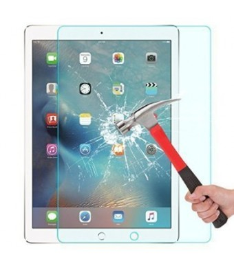OMOTON 2.5D Round Edge 9H Hardness Tempered Glass Screen Protector for Apple iPad Pro 12.9-Inch, Crystal Clear