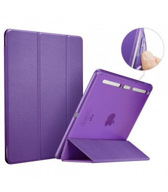 ESR Corner/Bumper Protection Smart Cover Case with Soft TPU Bumper and Auto Wake/Sleep Function for iPad Air 2/iPad 6, Violet