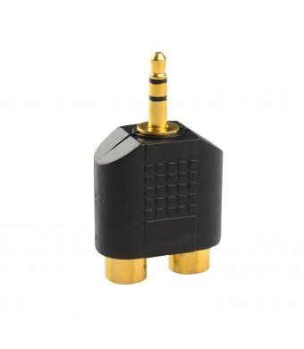 mandyyan Gold Plated 3.5mm Stereo to 2-RCA Male to Female Adapter,Audio Splitter Adapter, Dual RCA Jack Ada