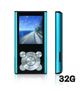 Tomameri Blue 16GB Portable MP4 Player MP3 Player Video Player with Photo Viewer , E-Book Reader ,
