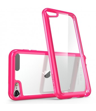 iPod Touch 6th Generation Case, [Scratch Resistant] i-Blason **Clear** [Halo Series] for Apple iTouch 5/6 Hybrid Bumper Case Cover (Clear/Pink)