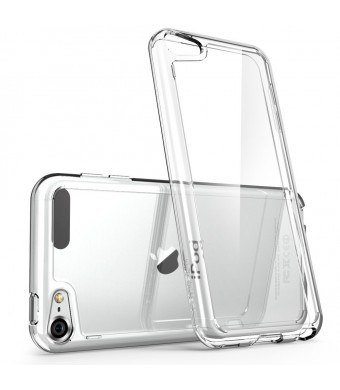 iPod Touch 6th Generation Case, [Scratch Resistant] i-Blason **Clear** [Halo Series] for Apple iTouch 5/6 Hybrid Bumper Case Cover (Clear)