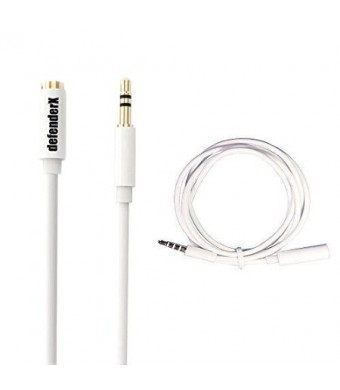 Headphone Audio Extender Cable - DefenderX Premium 1M 3.5mm Jacket Extension Cord Male To Female Headset Stereo Audio Cable
