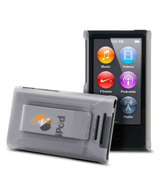 iPod Nano 7 Case (Translucent Clear) Shell Case Cover with Tempered Glass for Apple iPod Nano 7 (7th Generation)