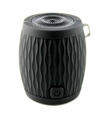 WAAV Rocker Mini Bluetooth Speaker for iOS (Black), iPhone, iPod, iPad and Android devices (works with any bluetooth audio source)