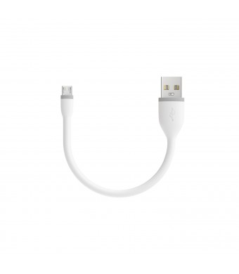Satechi Flexible Micro USB to USB Cable for Android - 6 Inches (15 Centimeters) - White