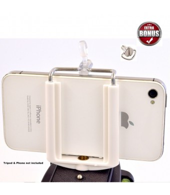 DaVoice Cell Phone Tripod Adapter - iPhone Tripod Mount - 6 6S Plus 5 5S 5C 4 4s Clip Holder Connector Hea