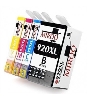 MIROO 4 Pack High Capacity Replacement for hp ink cartridges 920 Compatible with HP Officejet 6500 6000 7000 7500 printer.