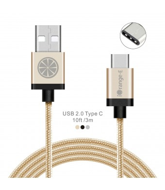 USB C to A, Type C iOrange-E™ 10ft(3M) Braided Cable with Aluminum Connector for 2015 Apple New Ma